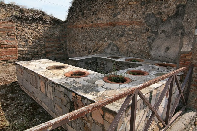 Archeologists discover an Ancient Pompeii Snack Bar that Served Food to Tourists 2,000 Years Ago, Like Today's Vacation Destinations