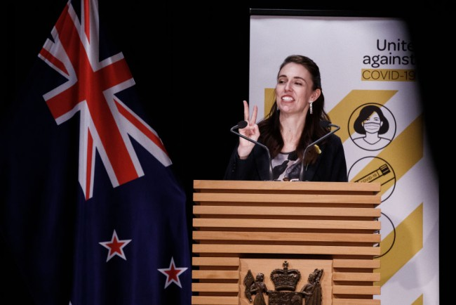 Prime Minister Jacinda Ardern Announces Decision On COVID-19 Alert Level Settings For New Zealand