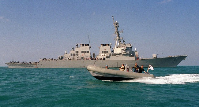 USS Benfold Sailed Close to Mischief Reef to Challenge China's New Maritime Rules in the South China
