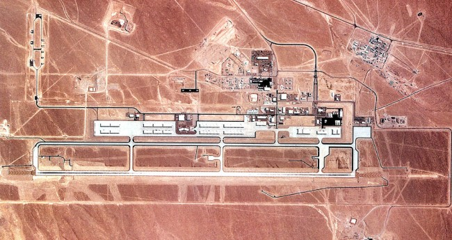 Area 52 of the US Air Force Where Advanced Technology is Tested for Use in Practical Real-World Military Applications
