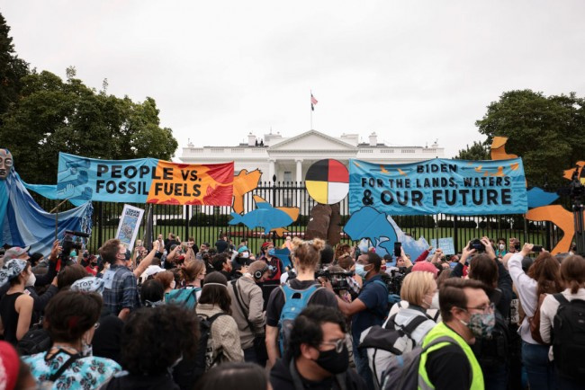 Environmental Activists March To White House On Indigenous Peoples' Day