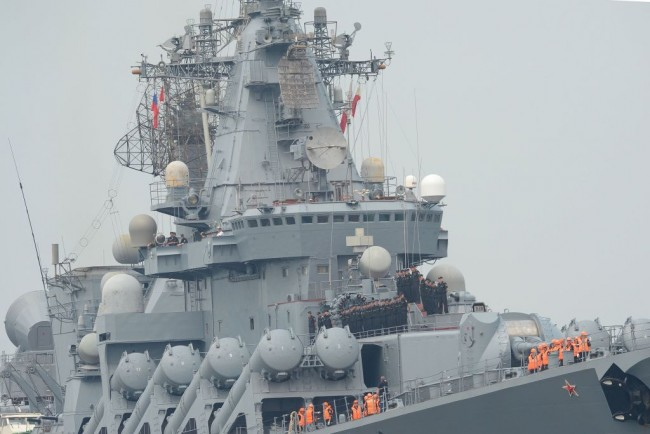 Russian Warships Launch Missiles in Practice Drills Near the Kuril Islands which is Claimed by Japan, Both Say They Own it